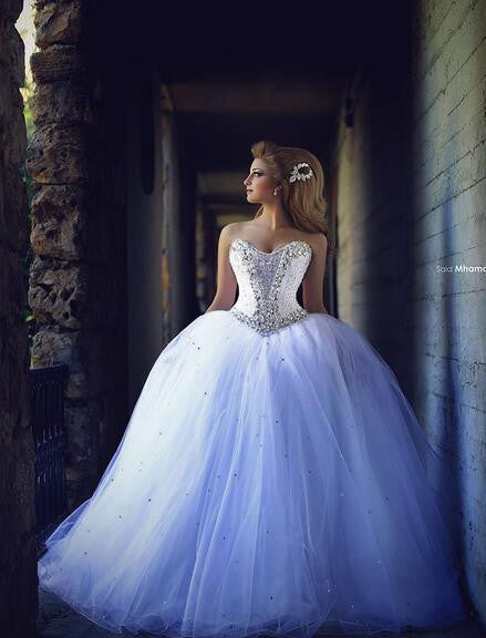Princess Wedding Dress Tulle Ball Gown Bridal Dress
