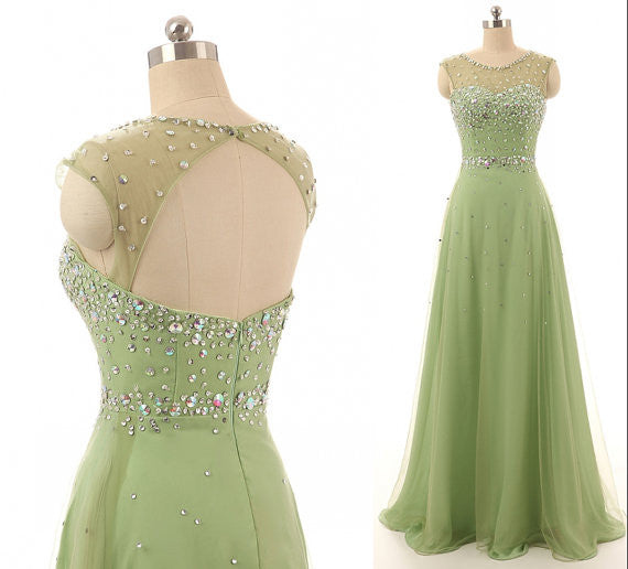 A-line Prom dress With Beadings