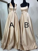 Simple A-line Long Prom Dress Fashion Winter Formal Dress Popular Wedding Party Dress  LP334
