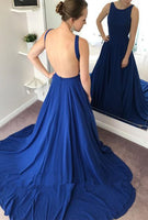 Backless Sexy Long Prom Dress long wedding reception dress, formal dress, evening dress  LP036