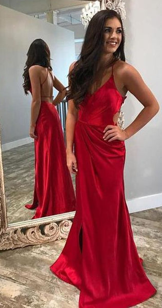 Unique A-line Sexy Long Prom Dress Fashion Winter Dance Dress  LP292