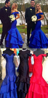 Off the Shoulder Mermaid Long Prom Dress Semi Formal Dresses Wedding Party Dress LP154