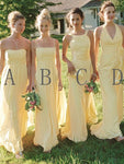 Chiffon Simple Long Bridesmaid Dress Wedding Party Dress