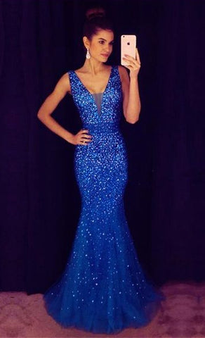 Full Beaded Floor Length Prom Dress,Formal Dresses,Wedding Party Dress LP080