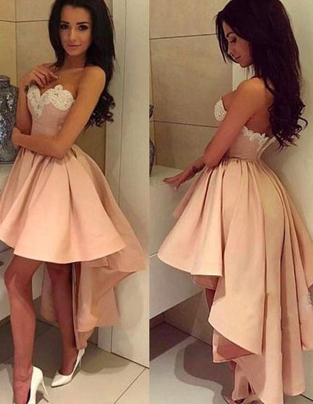 High Low Homecoming Dress Graduation Dresses Dance Dress Sweet 16 Dress SW099