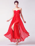 Red Prom dress,Sweetheart Chiffon Prom dress