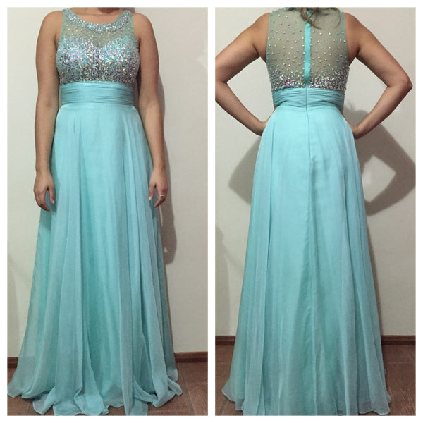 Plus Size Long  Prom Dress   I208