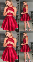 Short Two Piece Homecoming Dress Graduation Dresses Dance Dress Sweet 16 Dress SW134