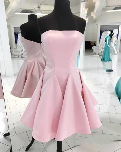 Fashion Satin Homecoming Dress Short Graduation Dresses Dance Dress Sweet 16 Dress SW118