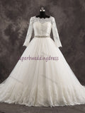 Ball Gown Real Photo Bridal Dress,Custom Made Wedding Dress in High Quality WB027