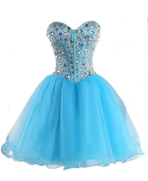 Beaded sweetheart short Prom Dress Short homecoming dress I041