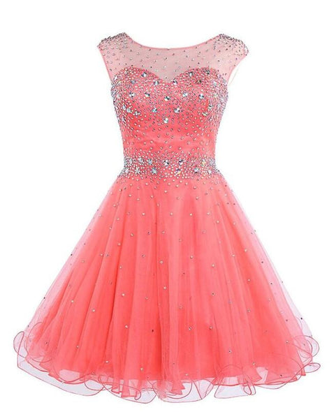 Beaded short Prom Dress Short homecoming dress I043