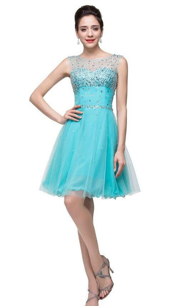 Beaded short Prom Dress Short homecoming dress I047