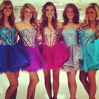 Short homecoming dress S064