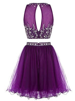 Two piece Short homecoming dress I1058