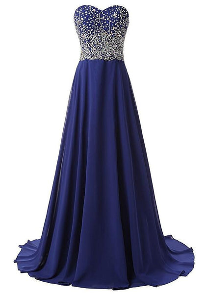 Chiffon Beads  Long Prom Dress I1226