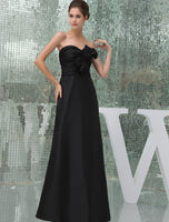 Sweetheart Floor length Satin Bridesmaid Dress
