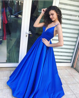 Royal Blue Sexy Long Prom Dress ,2019 Fashion Formal Dresses ,Modest Pageant Dress LP236