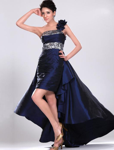 Short Prom dress,Evening Dress With One Shoulder Strap