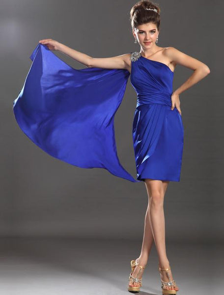 One Shoulder Prom dress ,Short Evening dress