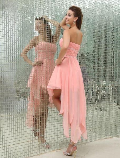 Strapless short homecoming dress prom dress I008