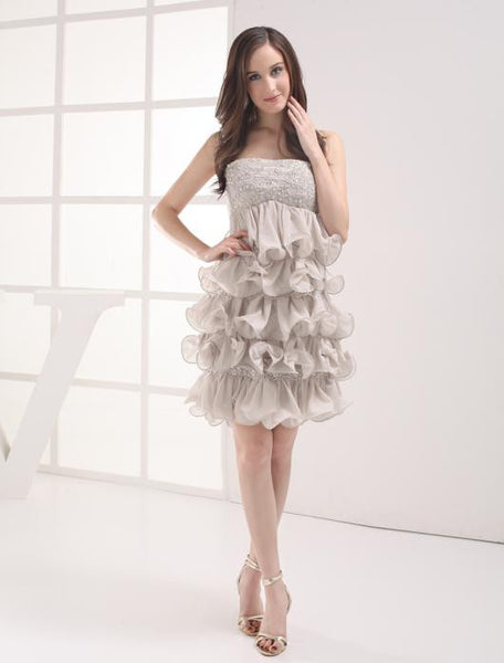 Strapless short homecoming dress prom dress I013