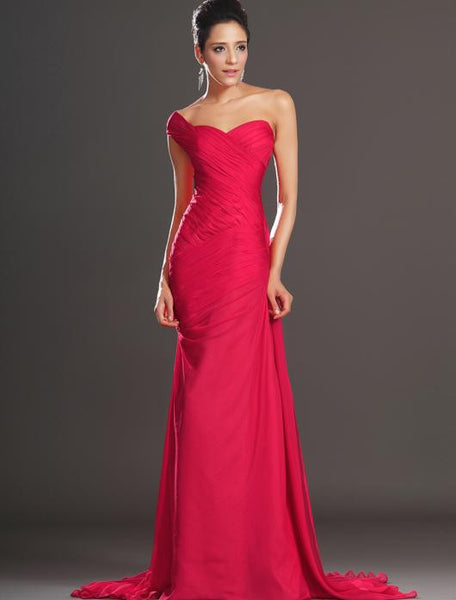 One shoulder Chiffon Floor Length prom evening dress I026