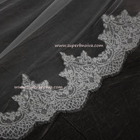 Wedding Large Veil Lace Veil Cathedral Wedding Veil LV01 Free Shipping