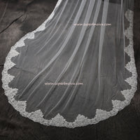 Wedding Large Veil Lace Veil Cathedral Wedding Veil LV02 Free Shipping