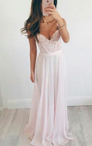 Fashion Appliqued Chiffon Long Prom Dress , Graduation Dress P003