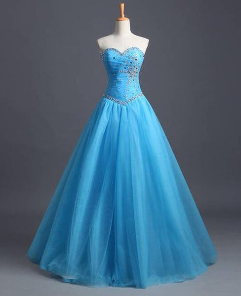 Sweetheart prom gown with beadings L017