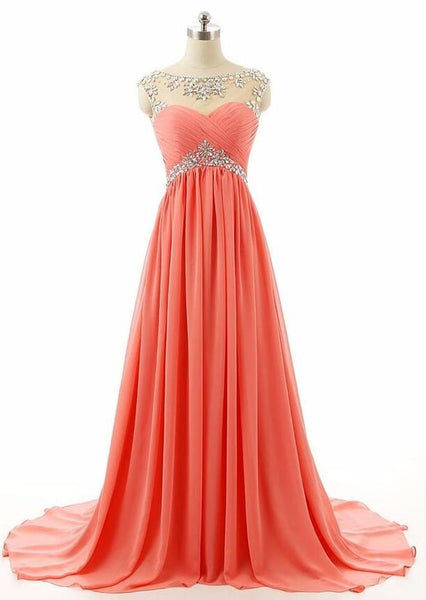 Floor Length Prom Dress With Cap Sleeves