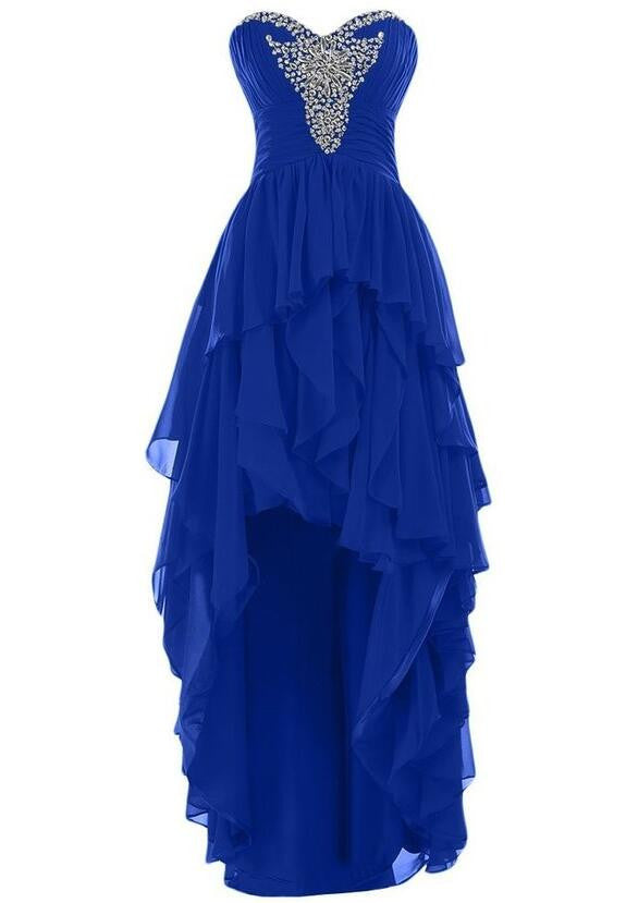 Chiffon Prom Evening Dress With Beadings P037