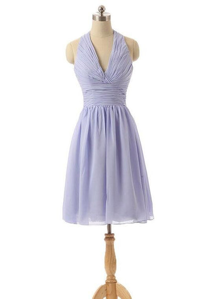 Halter neck short Bridesmaid dress P046