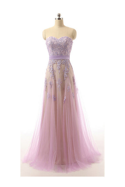Sweetheart Tulle Long  prom evening dress P050