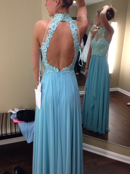 Floor Length  Prom Dress With applique and beadings  I083