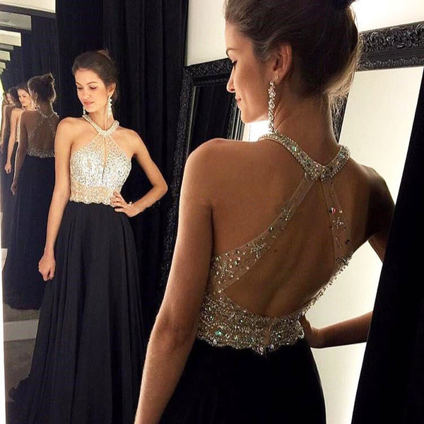 Floor Length  Prom Dress With beadings  I084