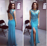 Floor Length  Prom Dress With beadings  I085