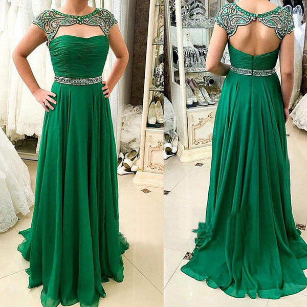 Floor Length  Prom Dress With Beadings I089