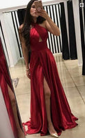 A-Line Cross Neck Floor-Length Prom Dress  ,Formal Dresses,Wedding Party Dress LP086