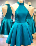 Simple Satin Short Homecoming Dress , Fashion 8th Grade Dance Dress, Custom Made Sweet 16 Dress SW157