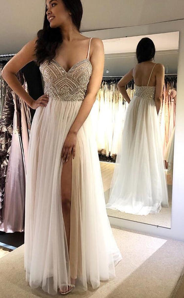 Long Prom Dresses with Beading Fashion Winter Formal Dress Popular Party Dress LP455