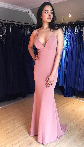Simple Mermaid Long Prom Dresses Fashion Winter Formal Dress Popular Party Dress LP457