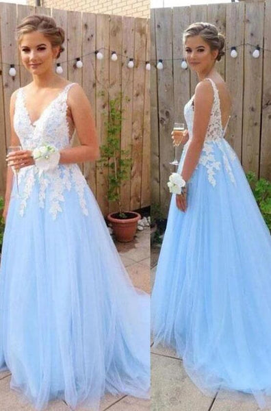 Open Back Long Prom Dresses with Applique Fashion Winter Formal Dress Popular Party Dress LP418