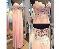 Strapless Applique Beading Prom Dresses Long Formal Dress  SP1121
