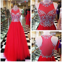 Red Beading Prom Dresses Long Formal Dress  SP1122