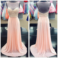 Beading Fashion Prom Dresses Long Formal Dress  SP1125