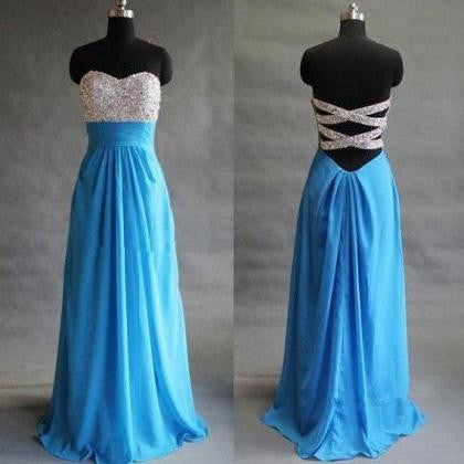 Strapless Beading Fashion Prom Dresses Long Formal Dress  SP1128