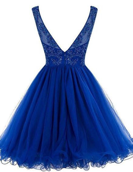Short Beading Tulle homecoming dress SW058