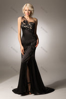 Black Long Prom Dress UP001